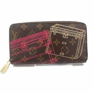 💯 Auth Louis Vuitton Zippy Trunks Wallet Monogram